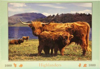 Highlanders 1000 Piece Jigsaw Highland Cattle