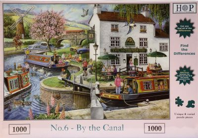 By The Canal 1000 Piece Jigsaw Find The Difference