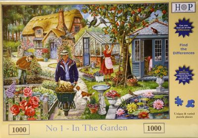 In The Garden 1000 Piece Jigsaw Find The Difference