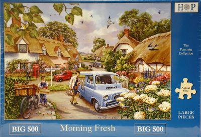 Morning Fresh Big 500 Piece Jigsaw Puzzle Bedford CA Minor 1000 Ferguson Tractor