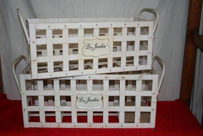 Le Jardine Decorative Basket Planter Pair