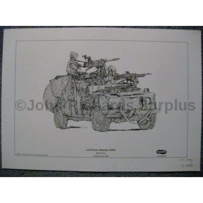 Land Rover signed reproduction print Defender WMIK British Army
