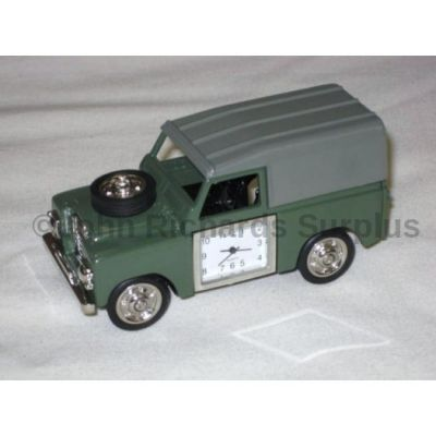 Miniature Land Rover Design Battery Operated Desk Clock Green 0475