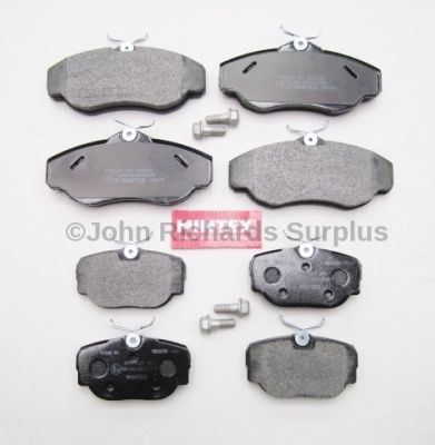 Brake Pad Set Front & Rear JRS020