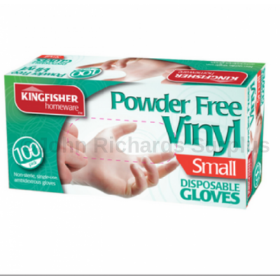 100 Pack Latex Powder Free Vinyl Disposable Gloves Small