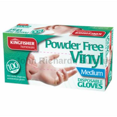 100 Pack Latex Powder Free Vinyl Disposable Gloves Medium