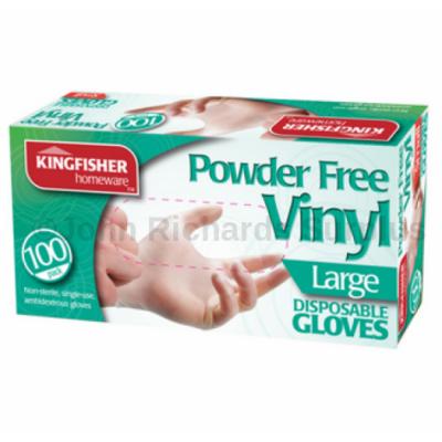 100 Pack Latex Powder Free Vinyl Disposable Gloves Large