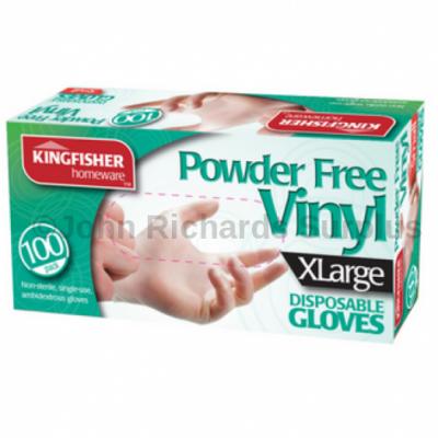 100 Pack Latex Powder Free Vinyl Disposable Gloves XL