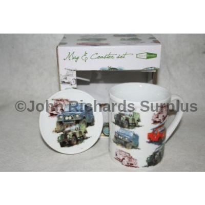 Land Rover fine china mug & coaster set