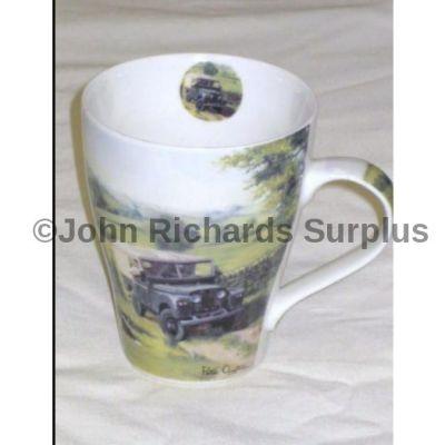 Leonardo china latte mug series 1 Land Rover 2 Dogs