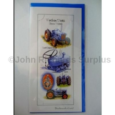 Blank Fordson Tractor bookmark greetings card with envelope for any occasion