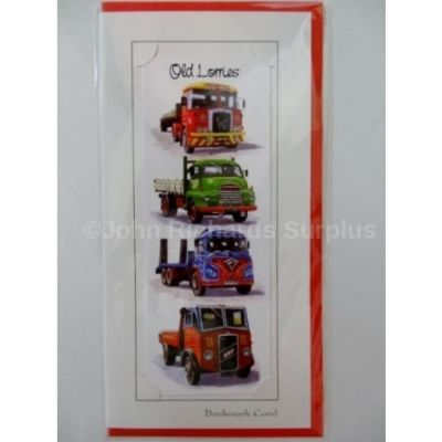 Blank Old Lorries Tractor bookmark greetings card with envelope for any occasion
