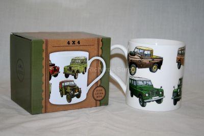 Leonardo Fine Bone China Land Rover Mug Series Models Collage