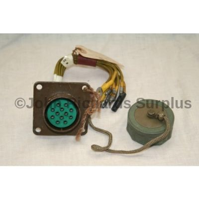 Military Nato 12 pin trailer socket with cable