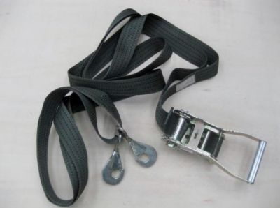 Ratchet strap with endless loop & 2 snap hooks