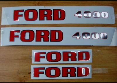 Ford 4000 Tractor decal set