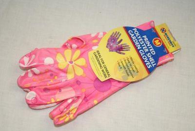 Marksman Ladies Pink Polyester Gardening Gloves Size 7&8