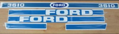 Ford 3610 Tractor Decal Set
