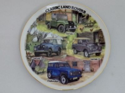 """Classic Land Rovers 8"""" collectors plate"""