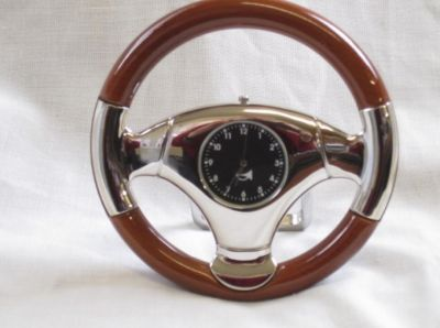 Steering Wheel Desk Clock with stand