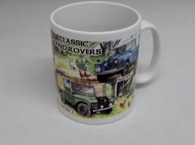 Classic china Durham mug Land Rover Collage