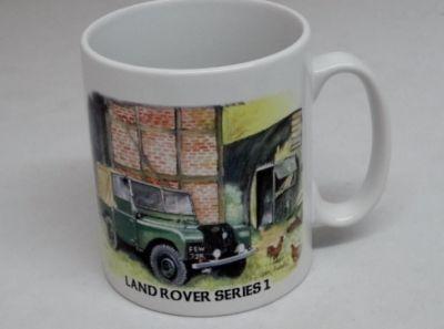 Classic china Durham mug Land Rover Series 1