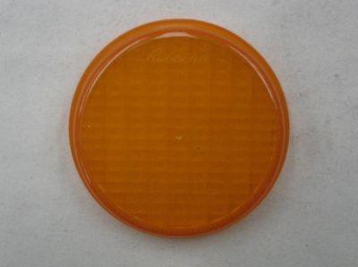 Rubbolite amber plastic round lens 6522 DAF truck part no FBU4435