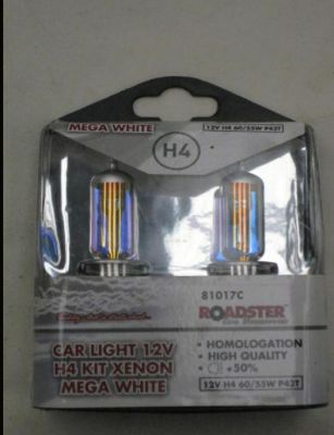 Roadster 12v xenon mega white H4 bulb kit 81017C