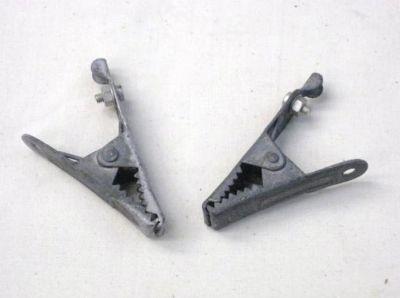 Crocodile clip pair 65mm long