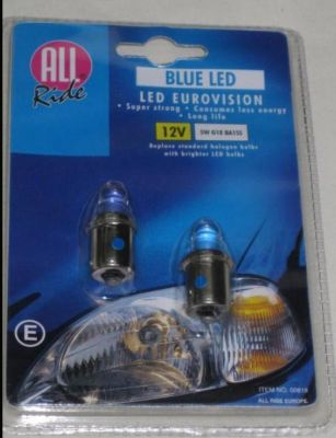 All Ride blue LED side lamp pair G18 00818