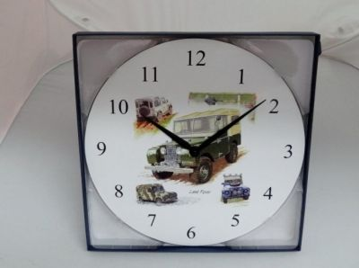 Land Rover battery operated wall clock Gift Boxed