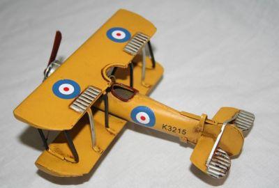 Handcrafted Tin Plate Avro621 Tutor Biplane 1:48 scale