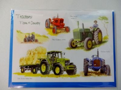 Blank Tractor greetings card with envelope for any occasion