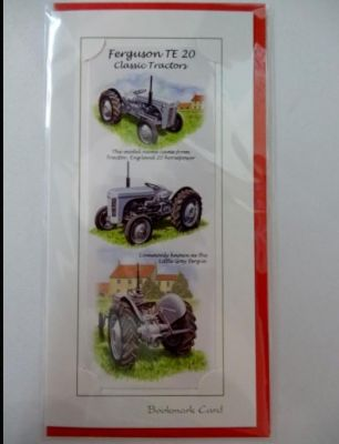 Blank Ferguson Tractor bookmark greetings card with envelope for any occasion