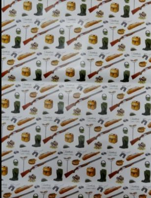 Gift wrapping paper shooting season 5 sheets per pack