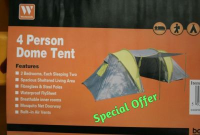 Base Camp 4 Person dome camping tent