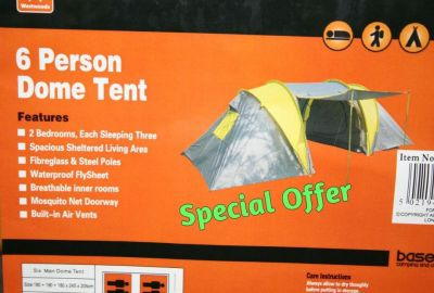 Base Camp 6 Person dome camping tent