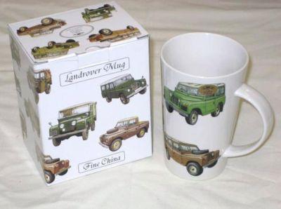 Leonardo china latte mug Land Rovers