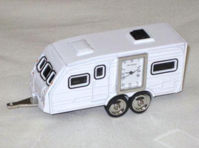 Miniature Caravan Design Battery Operated Desk Clock 9233