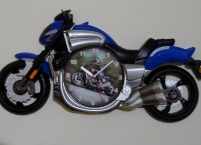 Yamaha V-Max Luxury Motorcycle wall clock Blue