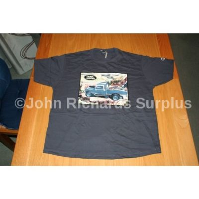 Official Land Rover Series 1 T-Shirt in a tin BlueS