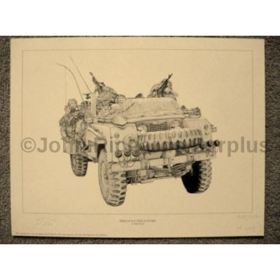 Land Rover signed reproduction print Series 2 SAS Pink Panther