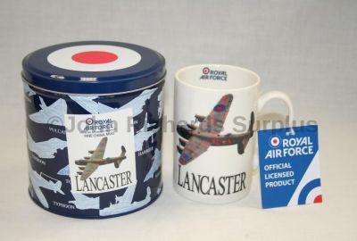 RAF Avro Lancaster Bomber Fine China Mug in a Tin