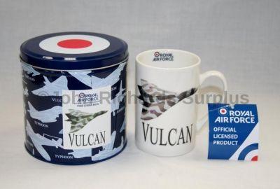 RAF Vulcan Bomber Fine China Mug in a Tin