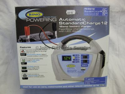 Ring Automatic 12 Amp 12 Volt Battery Charger RCB212