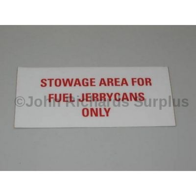 Land Rover Wolf jerry can sticker RRC8380