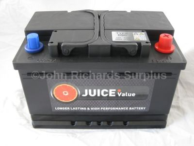 Juice 12V 72AH Car Battery Type 096 (Collect Only)