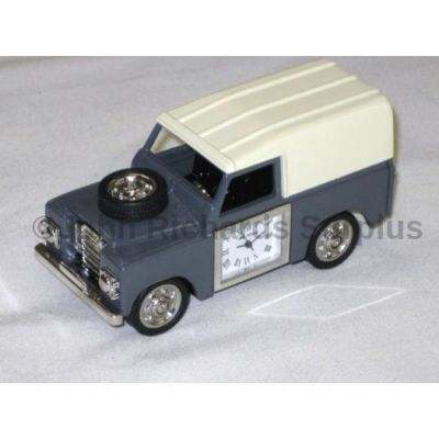 Miniature Land Rover Design Battery Operated Desk Clock Grey 9455
