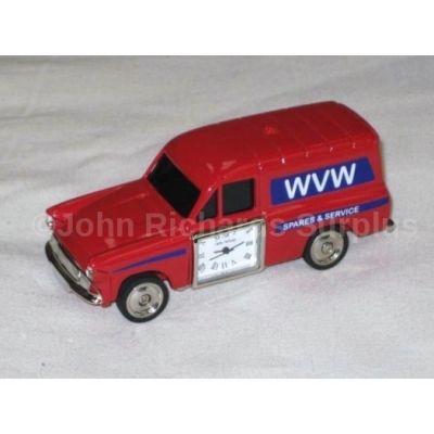 Miniature Ford Anglia Van Design Battery Operated Desk Clock 9700