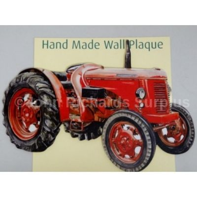 Handmade wooden wall plaque David Brown 30D Tractor